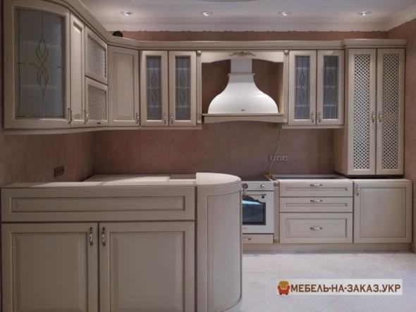 дубовая п образная кухня