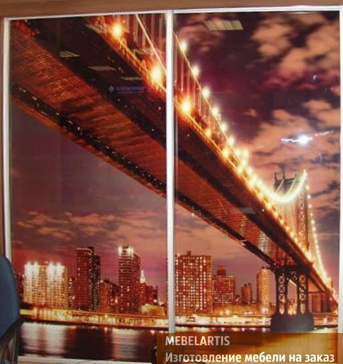 картинка моста на шкафе купе