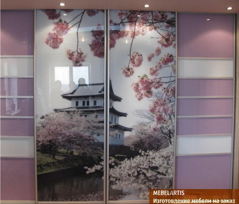 рисунок китайского домика на мебели