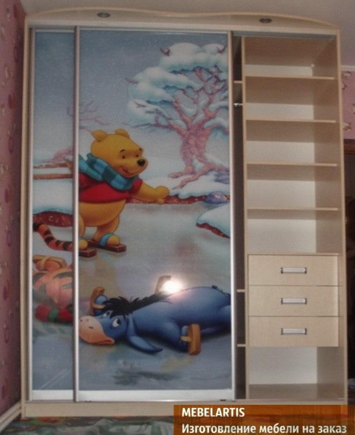 шкаф купе для детей с винипухом