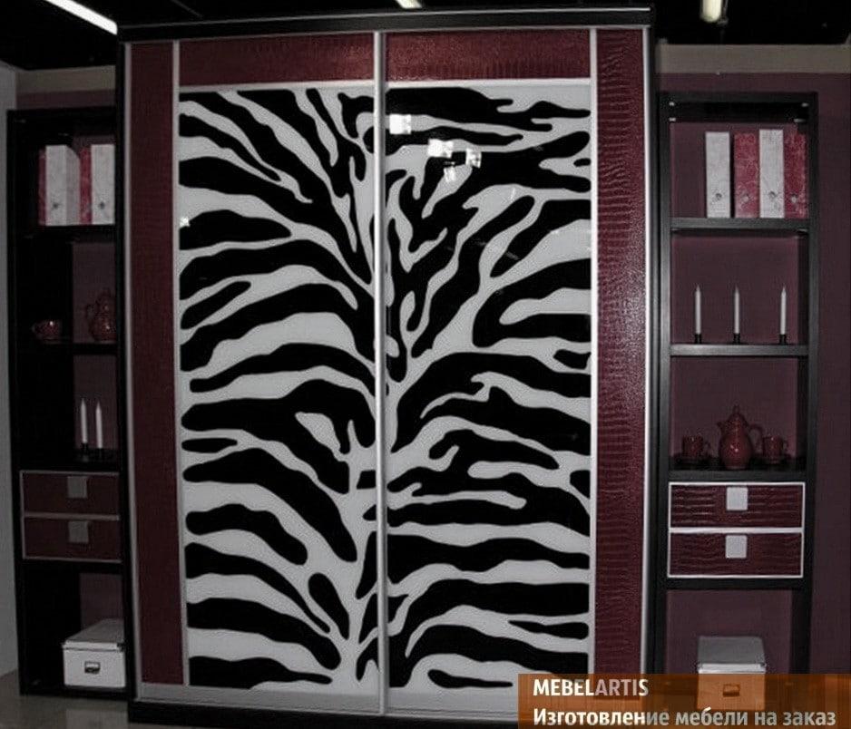 дизайнерский шкаф с фотопечатью на заказ в БУче