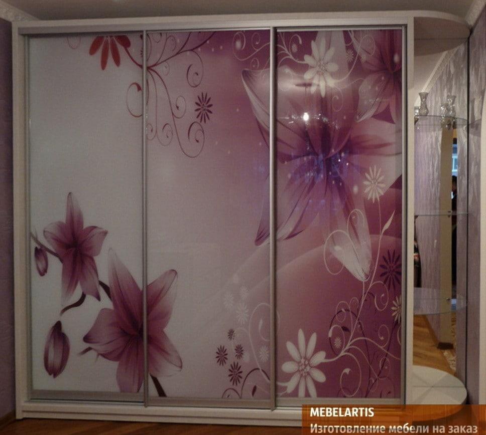 дизайнерский шкаф с фотопечатью на заказ в Борисполе