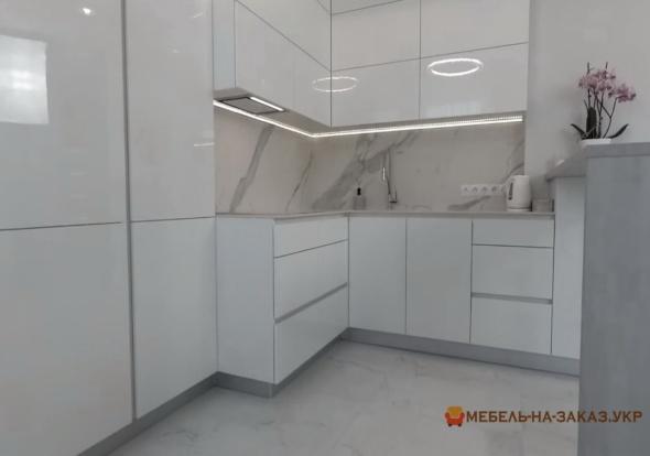 дизайн проект п бразной кухни