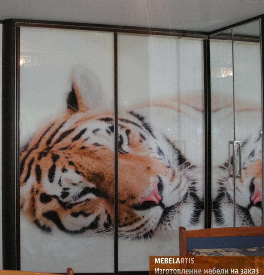 печать животных на шкафах купе