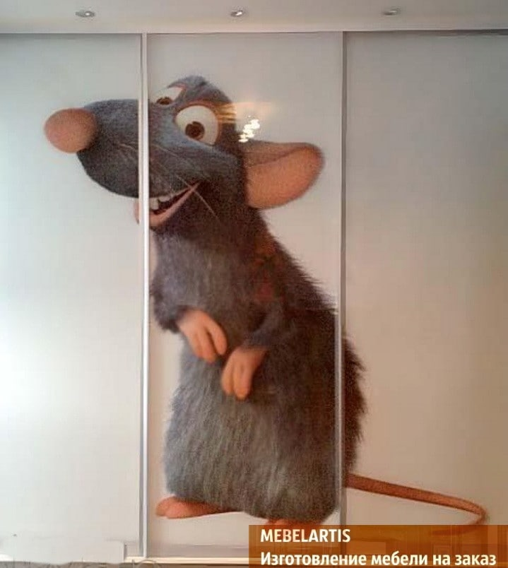 шкаф-купе с изображением мышки