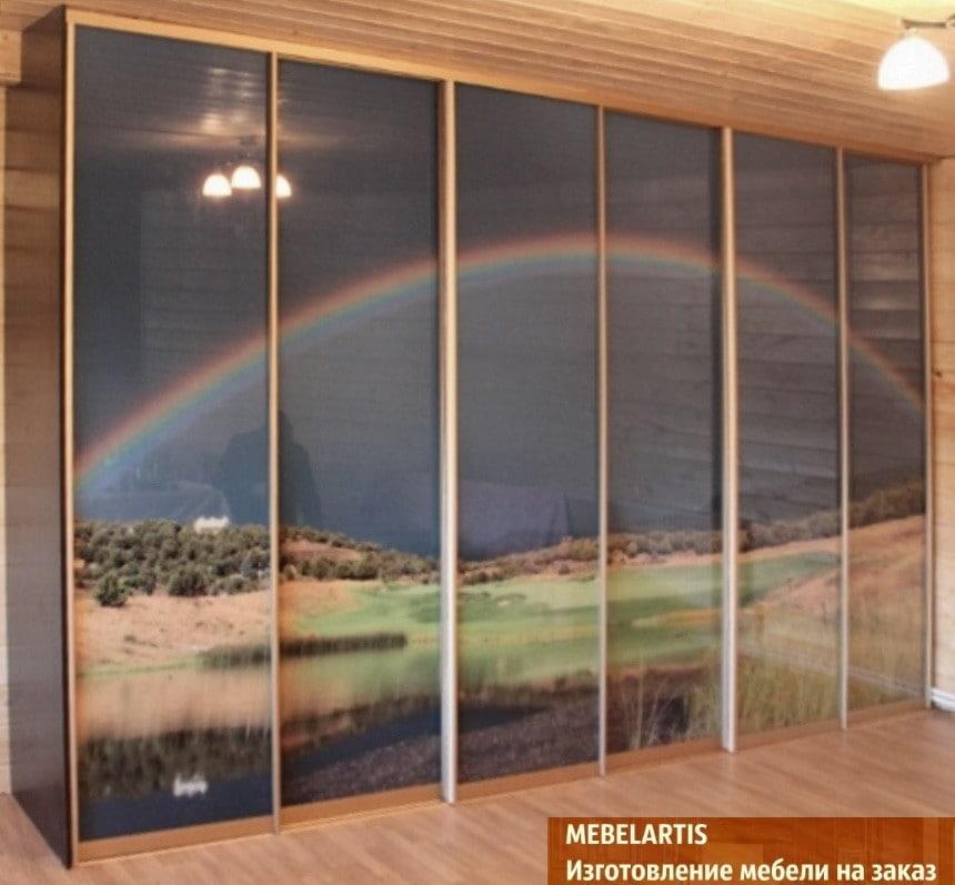 Изготовление шкафов-купе с рисунком на фасадах Янтарная