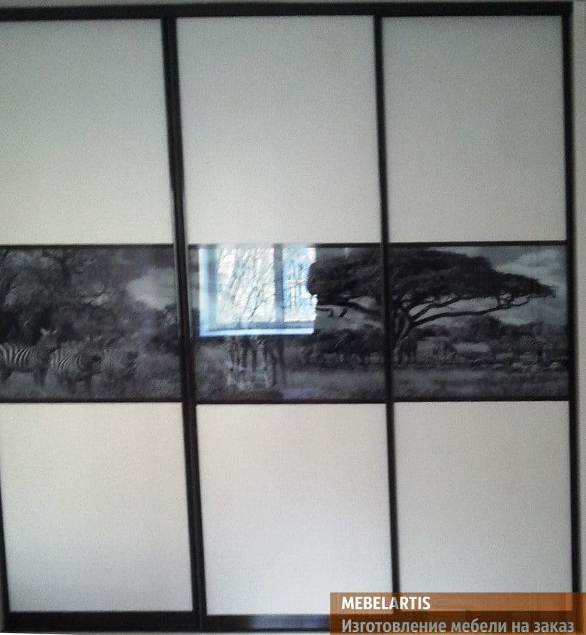Изготовление шкафов-купе с рисунком на фасадах ШУлявка