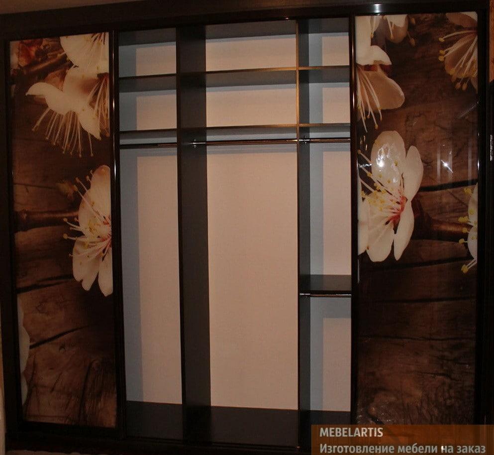 шкаф-купе с фотопечатью изготовленный под заказ в Киеве