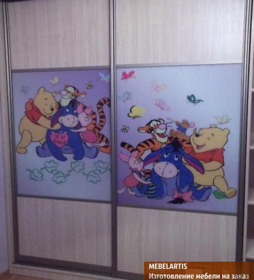 шкаф купе для детей со сказочными персонажами
