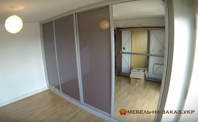 встроенная мебель шкаф изготовленный по индивидуальному проекту в спанью в Украине
