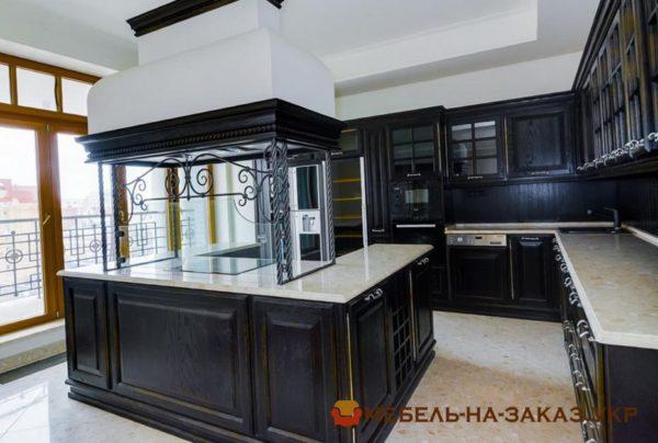 черная производство авторской дизайнерской кухни