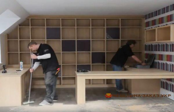 заказать мебель для библиотеки в Киеве