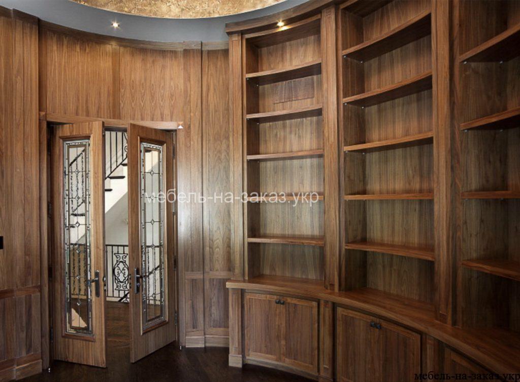 радиусная библиотека из дерева