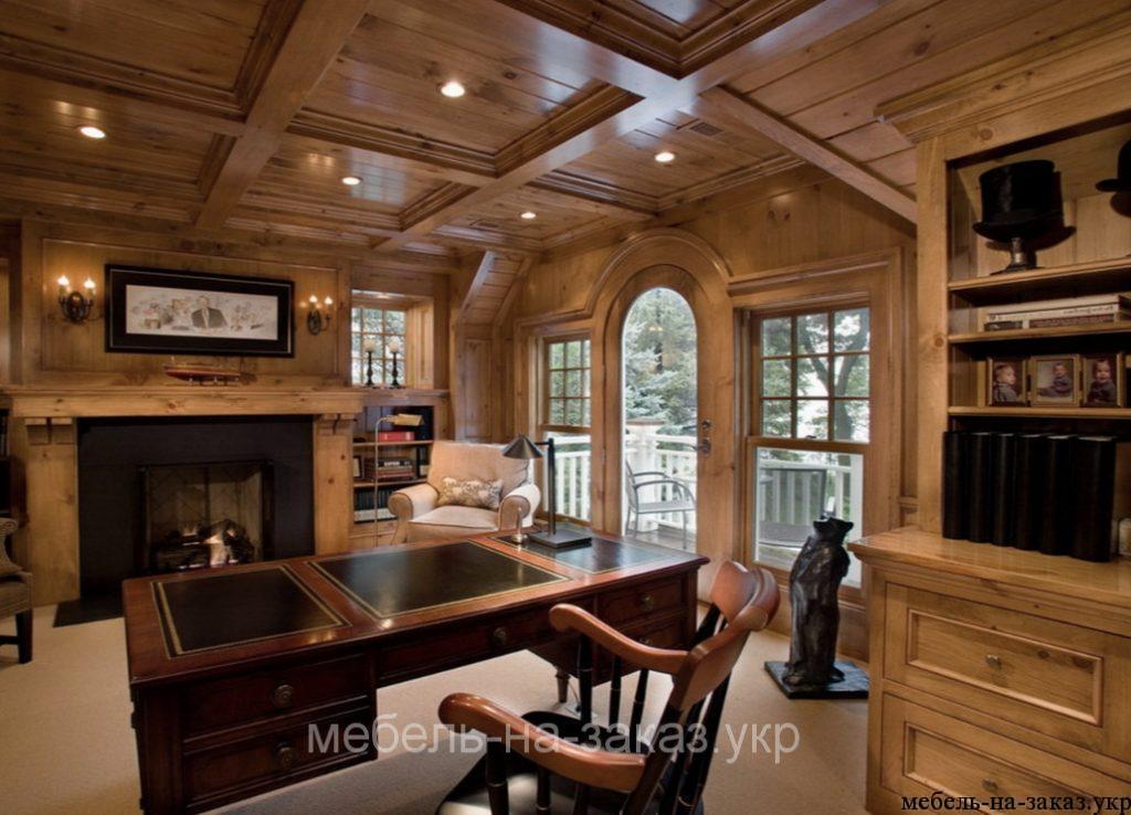 деревянный кабинет под заказ в киеве