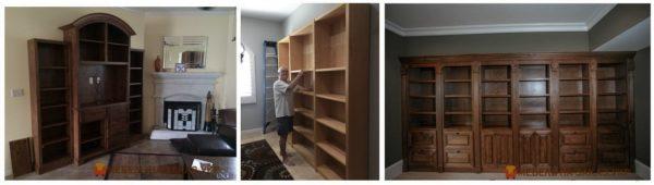 мебель для библиотеки из массива дерева