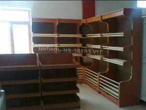 деревянные стеллажи для магазина