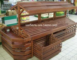 деревянные стеллажи на заказ для магазинов