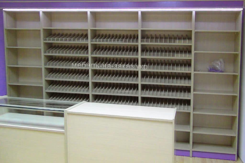 изготовление мебели для магазинов под заказ Украина