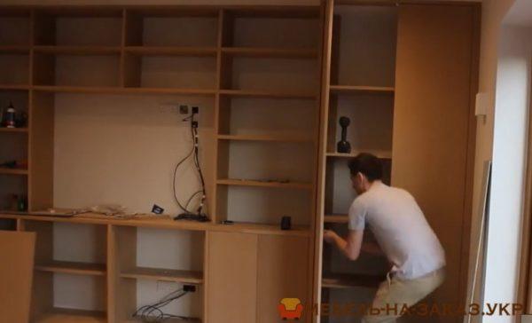 изготовление нестандартной мебели в гостиную