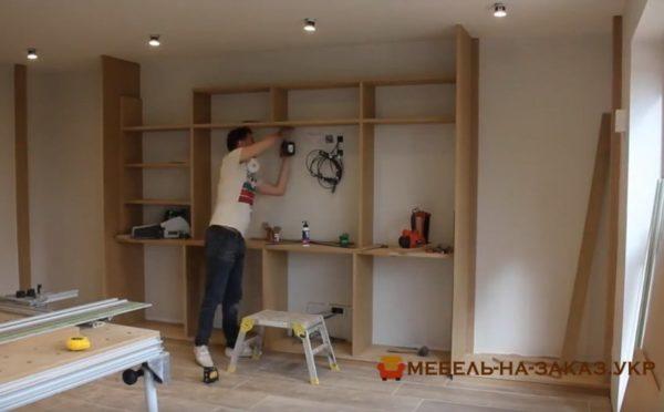 монтаж мебели в гостиную на заказ