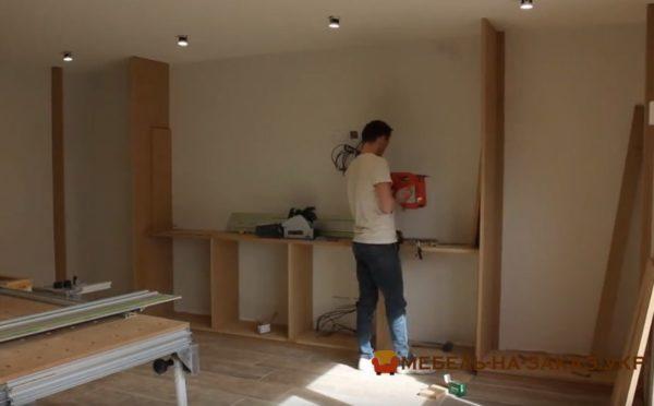 монтаж мебели в гостиную