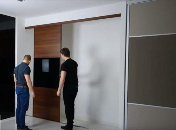 изготовление шкафов-купе для гостиной под заказ