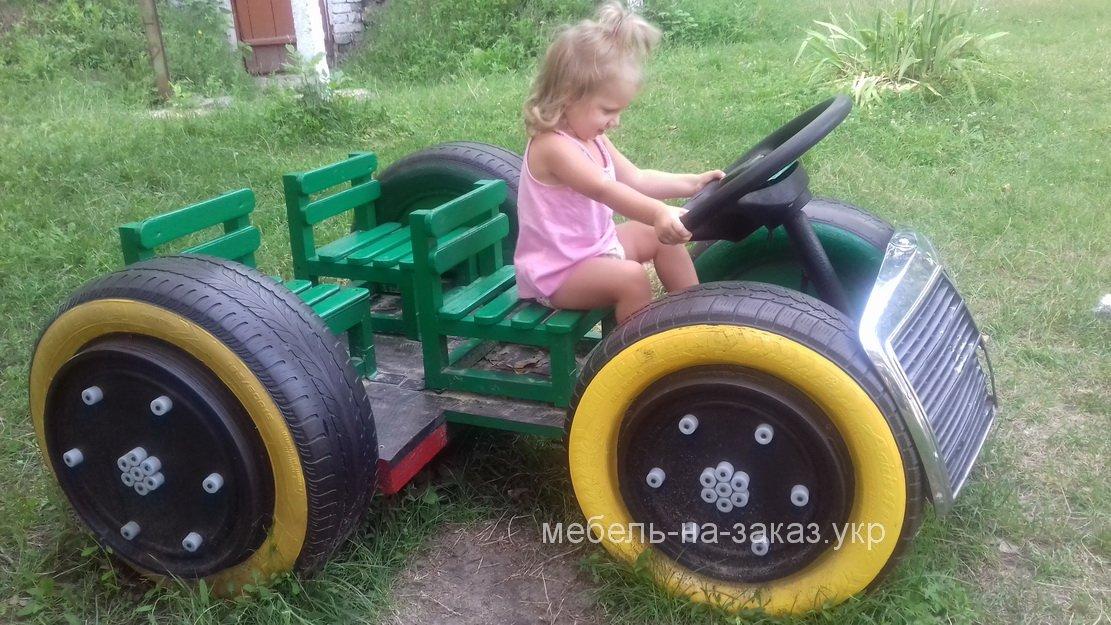 детская площадка из авто покрышек