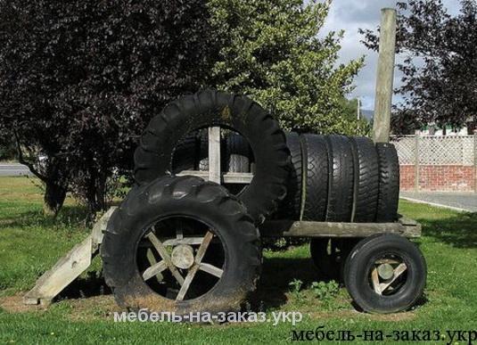трактор из шины