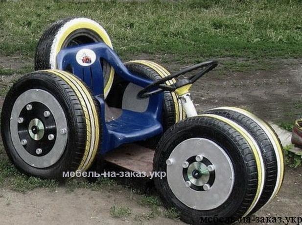 мотоцикл из шин