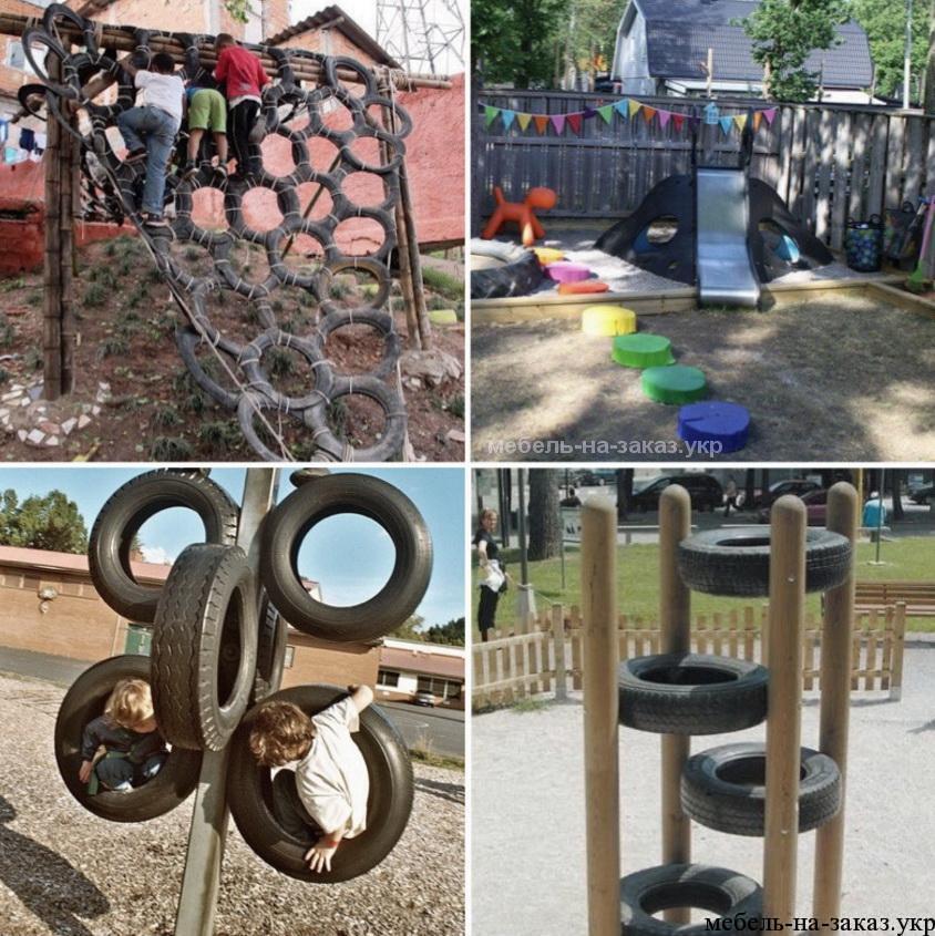 детские площадки из шин