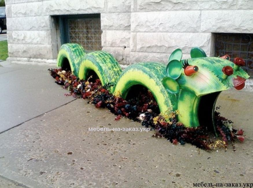 дракон из шины