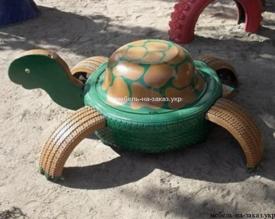 черепаха из авто шин