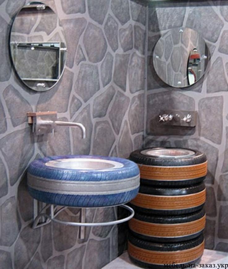 мебель в ванную из шин