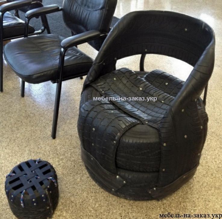 стулья из авто шины