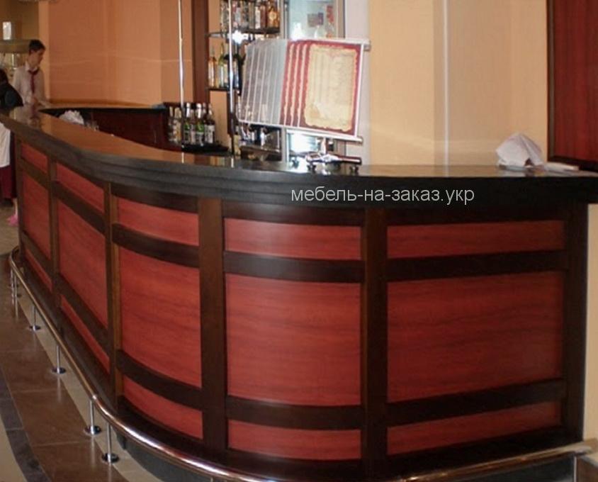 деревянная барная стойка под заказ Вишневое