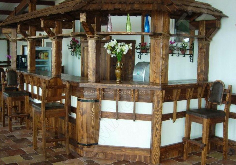 барная стойка в отель под заказ в Киеве из дерева
