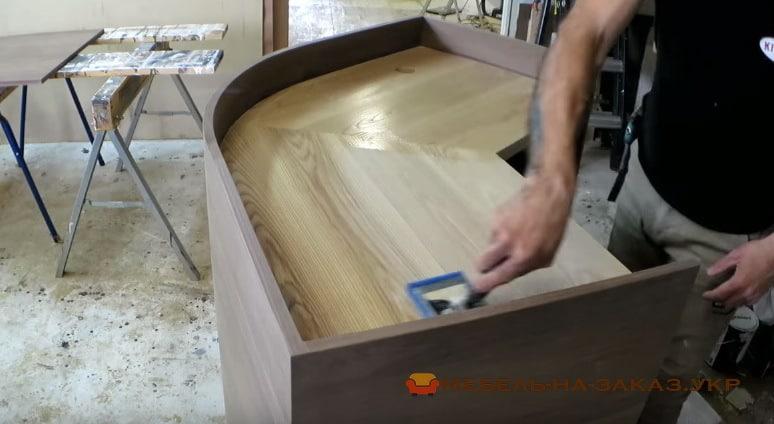как делают радиусную мебель