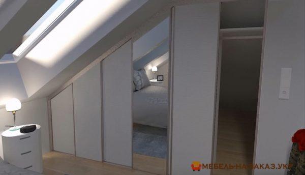 как выглядит шкаф в мансарде