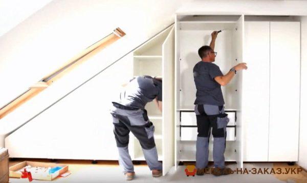 как сделать мебель на чердак