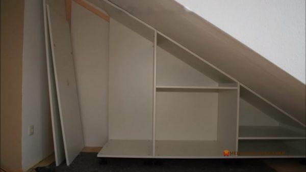 разработка мебели для мансарды