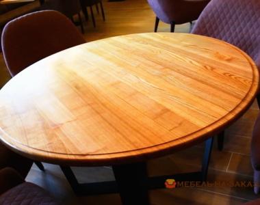 заказать стол из дерева в кафе