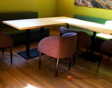 угловой деревянный стол под заказ