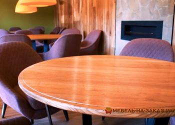 кругле столы из натурального дерева