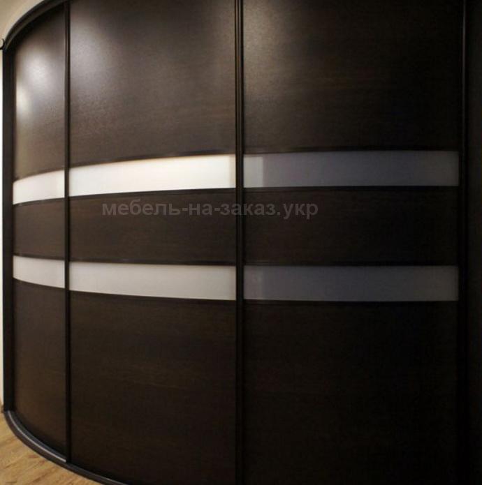 авторский радиусный шкаф