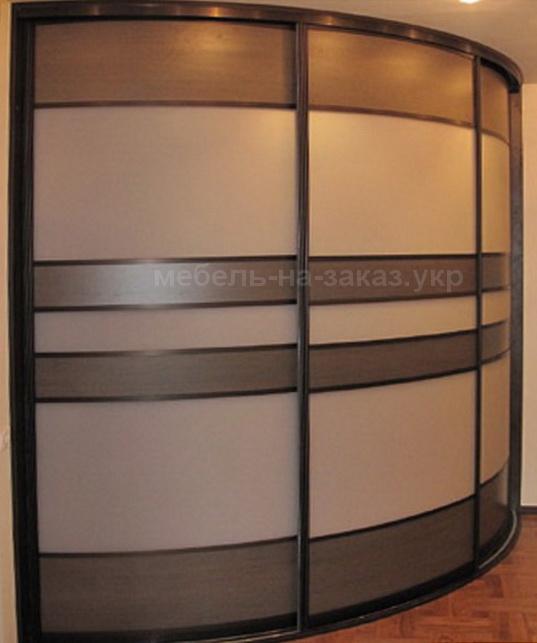 Нестандартный шкаф с круглыми дверями в КИеве