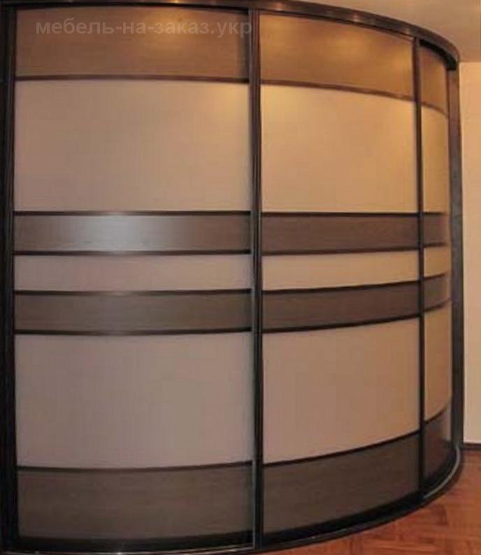 шкаф купе полукруглой формы на заказ