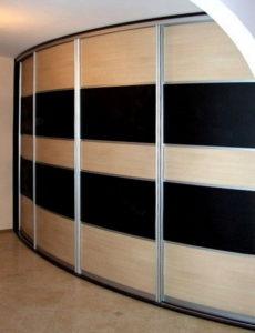 Изготовление радиусных шкафов-купе на заказ в киеве радиусны.