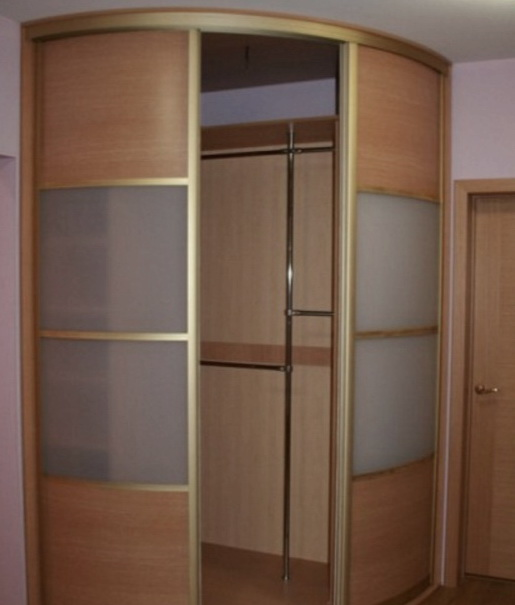 шкаф куе с круглыми дверями на заказ