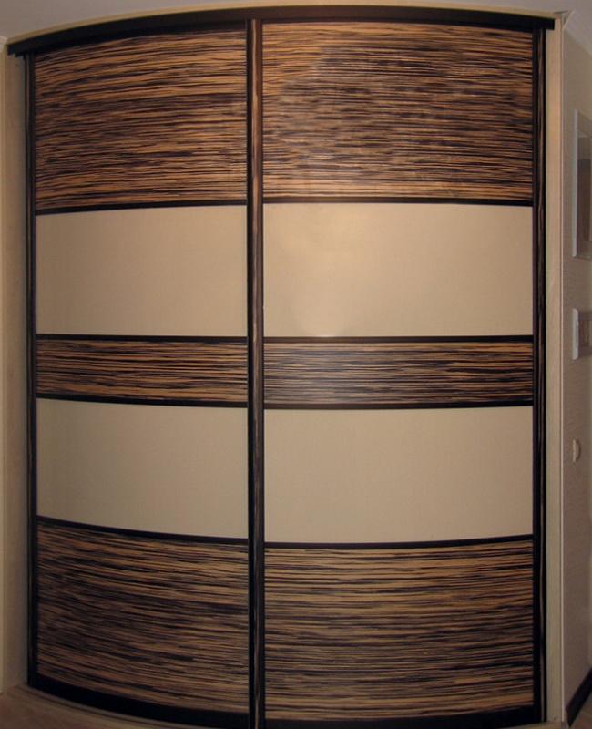 Радиусный шкаф на заказ