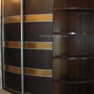 авторский радиусный шкаф-купе под заказ Киев